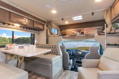 Four Seasons RV Rentals - Class C Large | Dinette & Cab