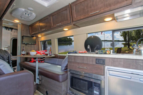 Four Seasons RV Rentals - Van Conversion   Kitchen