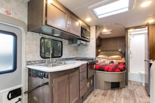Four Seasons RV Rentals - Class C Large | Kitchen