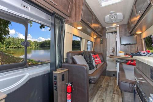 Four Seasons RV Rentals - Van Conversion   Seating