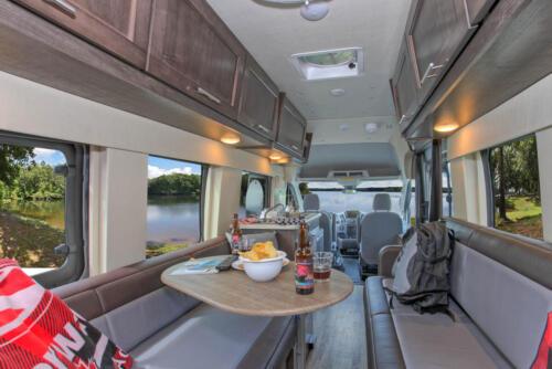 Four Seasons RV Rentals - Van Conversion   Dinette