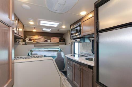 Four Seasons RV Rentals - Class C Medium Motorhome | Kitchen