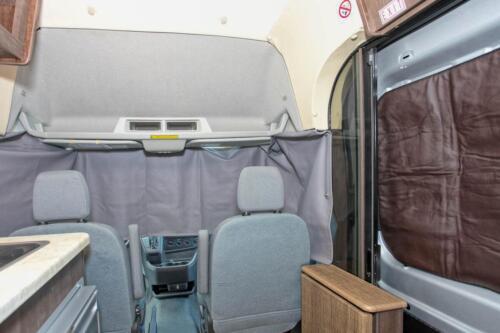 Four Seasons RV Rentals - Van Conversion   Cab Curtains