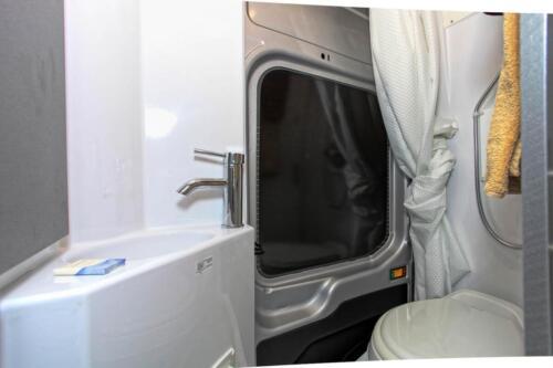 Four Seasons RV Rentals - Van Conversion   Bathroom
