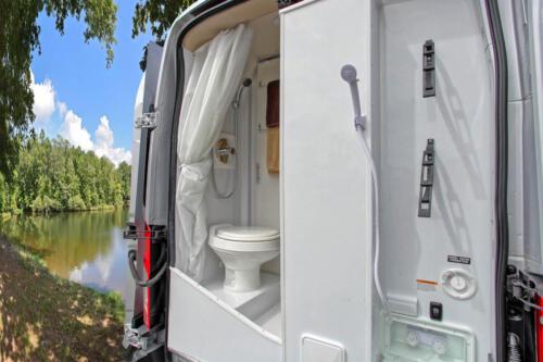 Four Seasons RV Rentals - Van Conversion   Outdoor Shower