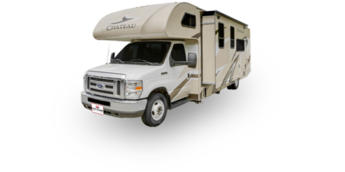 Four Seasons RV Rentals - Class C X-Large Motorhome | Driver's Side Exterior with Slideout